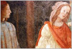 SANDRO BOTTICELLI ( 1445 - 1510) |  Young Man Greeted by Seven Liberal Arts (detail). Fresco. Musée du Louvre, Paris, France.