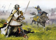 Lithuanian Horse Archer battling against Teutonic knights at Grunwald (1st Tannenburg), 1410