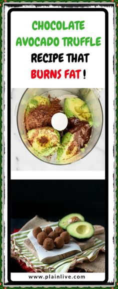 Delicious dessert that won't increase your waistline, is made of avocado, chocolate and natural sweeteners that will balance your hormones and improve your metabolism in the same time. Easy Desserts, Delicious Desserts, Keto Desserts, Good Food, Yummy Food, Fun Food, Mashed Avocado, Truffle Recipe, Chocolate Mix