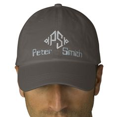 """""""Your Name Here"""" Personalized Monogrammed Cap 