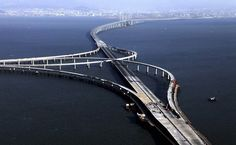 #China has unveiled the world's #LongestSeaBridge, which stretches a massive 26.4 miles – five miles further than the distance between #Dover and #Calais and longer than a marathon. | The #QingdaoHaiwanBridge, completed in early 2011, links the main urban area of #Qingdao city, East China's #Shandong province, with #Huangdao district, straddling the #JiaozhouBay sea areas. The #RoadBridge, which took four years and cost a cool £5.5billion to build. @dailymail