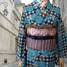 新作夏着物。うさぎ×チエック、可愛過ぎない色味なので大人女子にもオススメです! #着物 #浴衣 #かわいい #うさぎ #女子力 #チェック #リボン #yamamotoyumi #ribbon #rabbit #tokyo #japan #kawaii #kimono