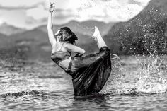 When Adam Menzies takes a photograph, it's usually not when someone's holding still. Sometimes it's of a dancer leaping up in a gymnastics pose, other times it's in Mother Nature with the subject splashing around in a lake.