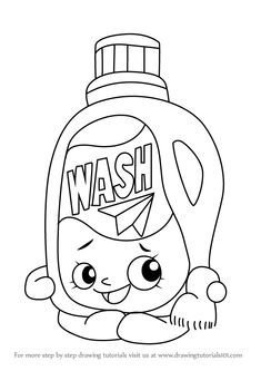 Learn How to Draw Wendy Washer from Shopkins (Shopkins) Step by Step : Drawing Tutorials