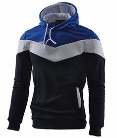 495d6dbf65f2 Mooncolour Mens Novelty Color Block Hoodies Cozy Sport Outwear  fashion   clothing  shoes
