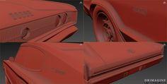 Detale, dzięki nim widać prawdziwy kunszt autora. #grafika3d #animacion #animacja3d #AkademiaAnimacji3d #Drimagine #kultowesamochody #maya #car #inspiracje
