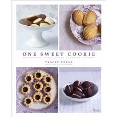 One Sweet Cookie: Celebrated Chefs Share Favorite Recipes by Tracy Zabar. This book started out as a cookie recipe swap with the author's chef friends.  This book is absolutely stunning -- the photography makes this book coffee table book material. Carrot cake cookies and bite-sized meringues -- yum!