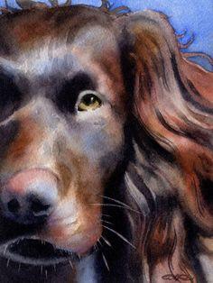BOYKIN SPANIEL Dog Watercolor Signed Fine Art by k9artgallery, $12.50