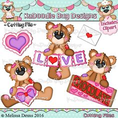 Valentine Patch Bears