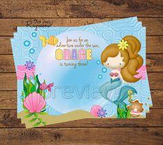 Mermaid Birthday Invitation by RaynebowShoppe on Etsy, $0.80