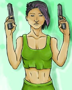 Girl with guns... By Shubham kale.. @mr_shubham_kale