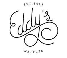Eddy's waffles - logo - logo design - branding - logo mark - script lettering