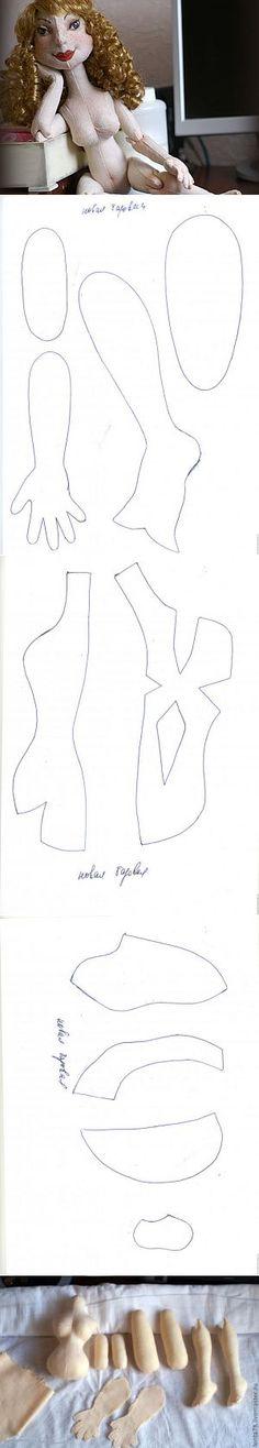 Кукла текстильная шарнирка. - Ярмарка Мастеров - ручная работа, handmade... ♥ Deniz ♥