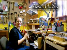 I just love Beth's studio! Totally amazing! -- Beth Millner