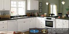 Hampton Satin White Kitchen Cabinets