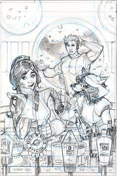 Star-Lord #1 Variant Cover Pencils by TerryDodson.deviantart.com on @deviantART