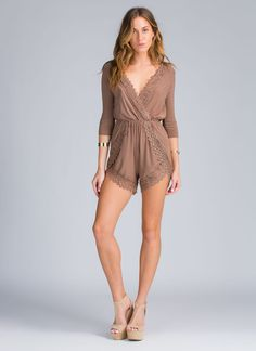 Lacy details aren't just for the bedroom, ladies. They're for sexy #OOTNs (like this romper), too.