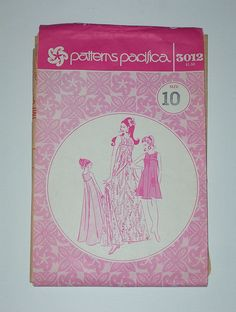 Vintage 70s Hawaiian Dress Patterns Pacifica 3012 Size 10 Bust 32 1/2. $8.00, via Etsy.