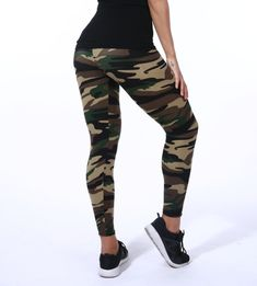 90e9d59cac02a Camouflage Pattern Women's Yoga Pants Leggings Tights Camo