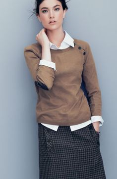 Sweater, button up shirt, wool skirt, umm, yeah that is my style.