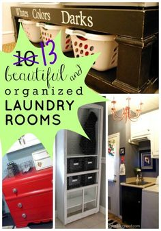 13 Beautiful and Organized REAL LIFE Laundry Rooms