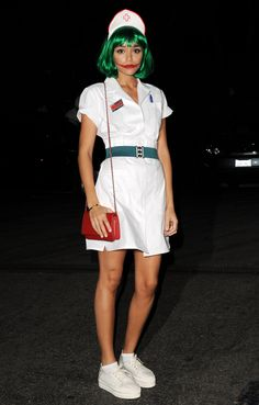Didn't you hear? Sexy nurses are passé, and Joker nurses are in this year. Bravo Ashley for nailing this creative costume with a Chanel bag, no less.    - Cosmopolitan.co.uk