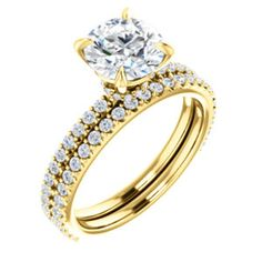 NEW Round Engagement Ring Mounting in Gold!  -- Available at DJ's Jewelry in Woodland, CA / www.DJsJewelry.com