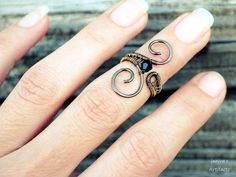 Hey, I found this really awesome Etsy listing at https://www.etsy.com/listing/295322027/black-midi-ring-knuckle-wire-wrapped