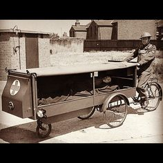 check out this old army ambulance #cargobike