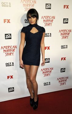 "Lea Michele at the premiere of ""American Horror Story"""