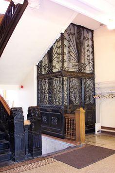 Lincoln NE ~ Historic City Hall ~ Cage Elevator, via Flickr.