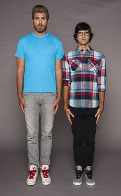 """Link looks so short, but then you realize he's actually 6' and Rhett is freakishly 6'7""""."""