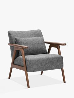 John Lewis & Partners Hendricks Accent Chair- The beautifully crafted Hendricks armchair, with an exposed oak frame, and mid-century style complements any interior.