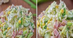 Healthy Side Dishes, Pasta Salad, New Recipes, Potato Salad, Spinach, Salads, Ethnic Recipes, Crab Pasta Salad, Healthy Sides