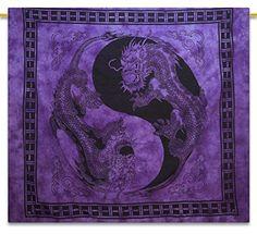 "Purple Dragon Indian Hanging Cotton Tapestry Full Size Beach Decor Throw 92"" X 82"" ibaexports http://www.amazon.com/dp/B00TDMDZ8K/ref=cm_sw_r_pi_dp_8qnIvb0R3D717"