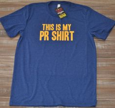 This Is My PR Shirt For Men - Crossfit Shirt - Workout Shirt For Men