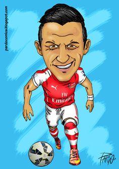 Alexis Sánchez (Arsenal) Alexis Sanchez Arsenal, Liverpool Team, Arsenal Fc, Cristiano Ronaldo, Football Players, Comics, Disney Princess, Messi, Beer