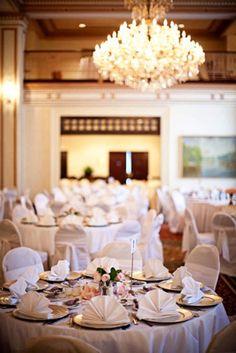 Elegant reception at the Omni Severin Hotel, Indianapolis, IN