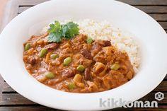 食物センイたっぷり、豆と根菜のキーマカレーのレシピ・つくり方   キッコーマン   ホームクッキング
