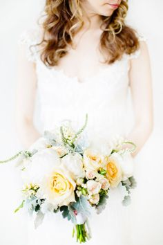 Newport Rhode Island Wedding at Belle Mer from Kelly Dillon Photography Read more - www. Dahlia Wedding Bouquets, Yellow Bouquets, Bride Bouquets, Bridesmaid Bouquet, Floral Wedding, Wedding Flowers, Wedding Decor, Wedding Ideas, Wedding Dresses