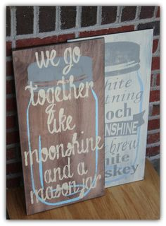 Moonshine home decor