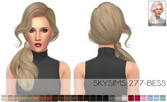 Skysims 277 bess   278 hair recolors at Porcelain Warehouse • Sims 4 Updates