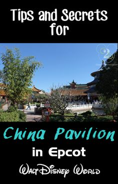 The China Pavilion in Epcot is one of the 11 countries around the World Showcase