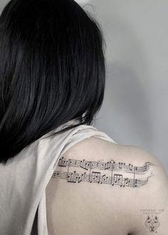 Dad Tattoos, Music Tattoos, Future Tattoos, Sheet Music Tattoo, Dainty Tattoos, Body Mods, Henna, Tatting, Tattoo Quotes