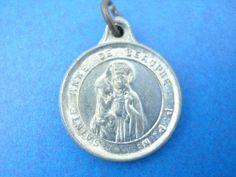 Vintage French Saint Anne de Beaupre Catholic Charm Medal