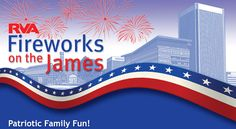 """RVA Fireworks on James is a FREE """"Patriotic Family Fun"""" event that will feature performances by SPARC,Richmond Symphony Youth Orchestra, Richmond Ballet's """"Minds in Motion,"""" & Latin Ballet of Virginia. Food Vendors will be on Brown's Island & public  invited to bring a picnic (alcohol and pets not permitted) & a blanket or lawn chair to enjoy music simulcast on WRIR-FM, 97.3 during evening & see state's largest fireworks show 7/3/14 Brown's Island begins at 7:30 PM & fireworks begin at 9:15…"""