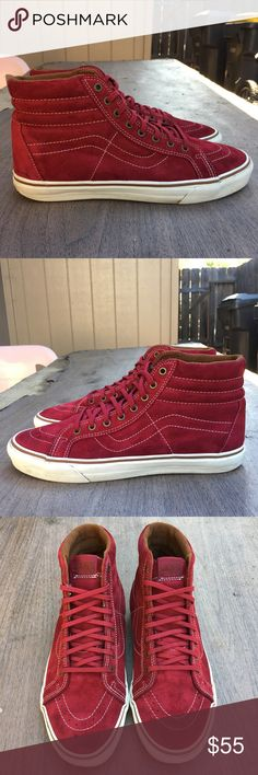 Hightop Vans Red/White Hightop Vans Men's size 11 Vans Shoes Sneakers