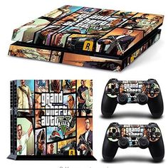 A MUST Have GTA PVC Skin Sticker ! For Ps4 Console And Controller. High quality vinyl sticker for ps4 Covers front side, left side, right side and 2 remote controllers. Digitally designed and cut for