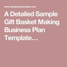 A sample life coaching business plan template profitableventure a detailed sample gift basket making business plan template cheaphphosting Images