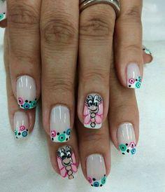 Cute Nails, Pretty Nails, Pretty Nail Designs, Paws And Claws, French Nails, Nail Arts, Pedicure, Hair And Nails, Acrylic Nails